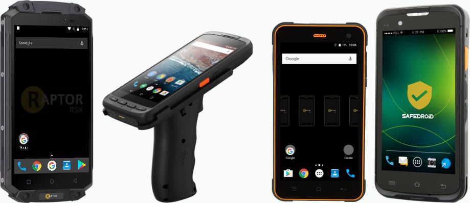 Raptor rugged Android hardware devices